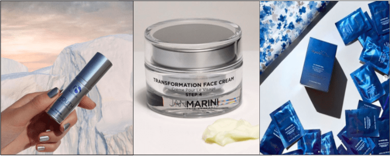iS Clinical Youth Eye Complex, Jan Marini Transformation Cream, HydroPeptide 5X Power Peel