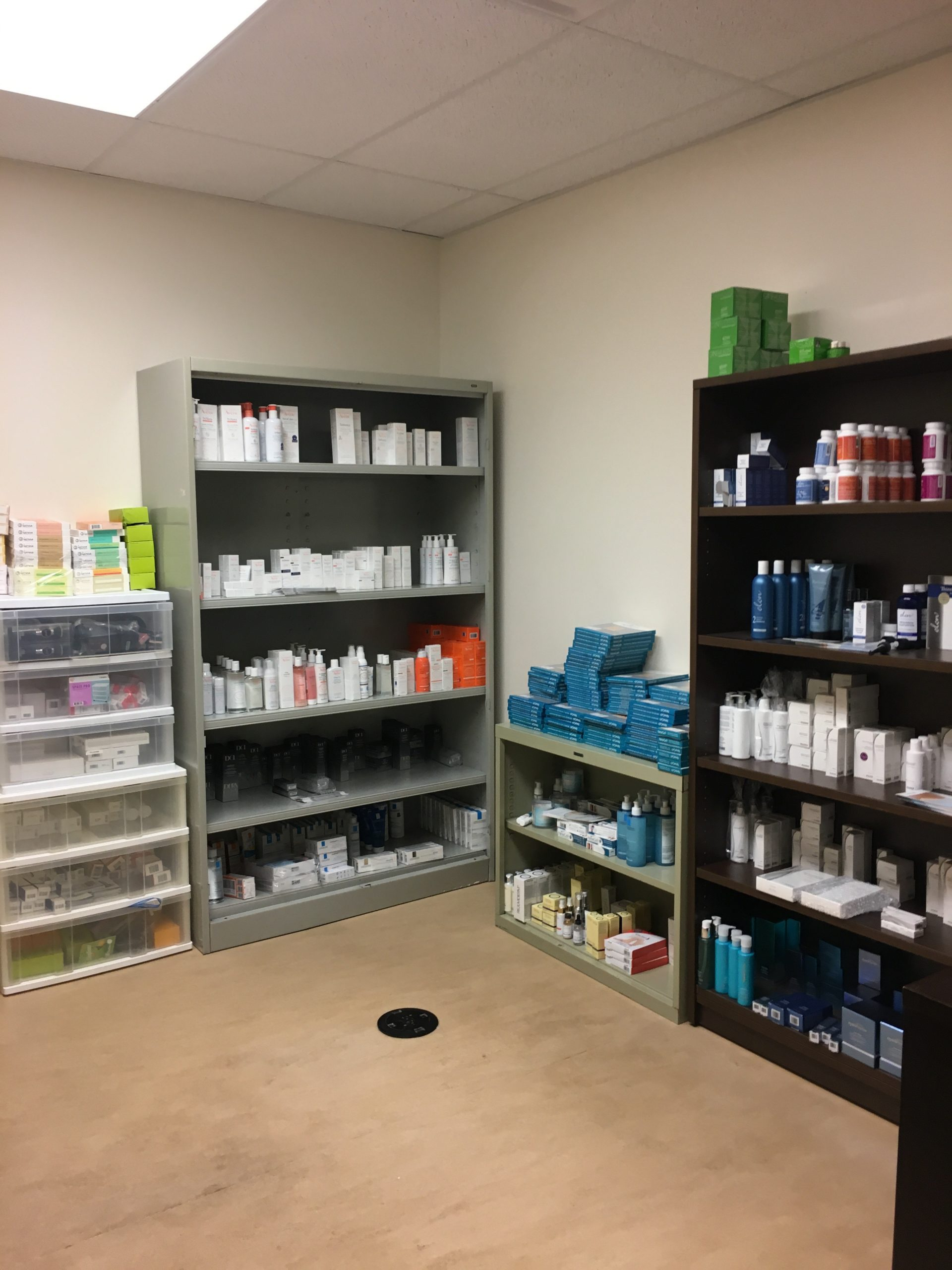 Our first inventory room at DermWarehouse
